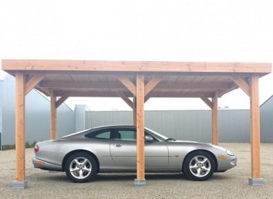 ossature bois toit plat pour carport