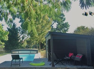 poolhouse composite pour la piscine