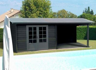 abri poolhouse piscine en résine composite