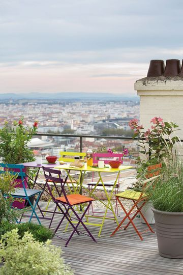 Table Jardin Metal Couleur. Affordable Table Jardin Ronde Pictures ...