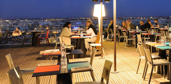 Terrasse restaurant Tête d'Oie à Lyon