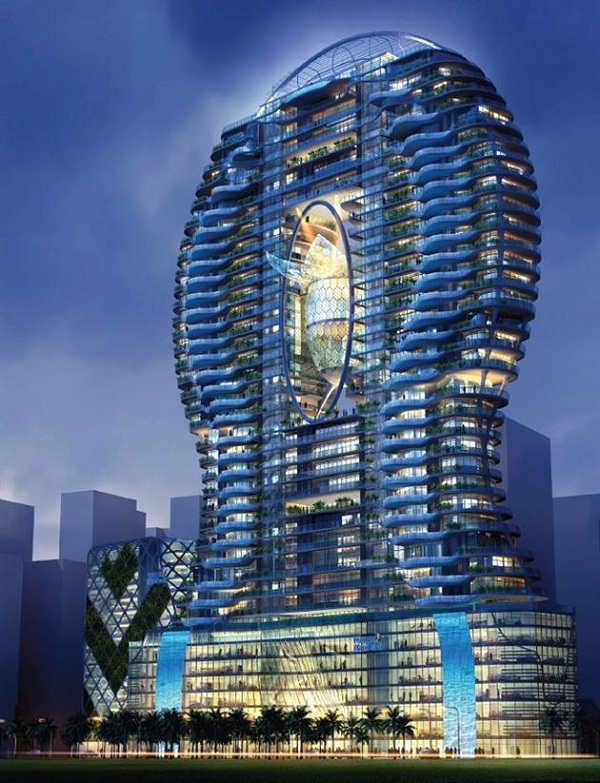 Immeuble Aquaria Grande Residential à Bombay avec bassins privées