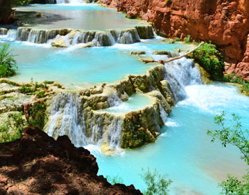 Havasu Falls et Havasu Creek au Grand Canyon, Etats-Unis